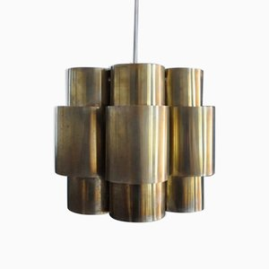 Scandinavian Modern Brass Pendant Lamp by Hans-Agne Jakobsson for Markaryd, 1960s