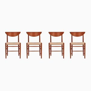 316 Dining Chairs by Peter Hvidt & Orla Mølgaard-Nielsen for Søborg Møbelfabrik, 1950s, Set of 4