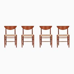 316 Esszimmerstühle von Peter Hvidt & Orla Mølgaard-Nielsen für Søborg Møbelfabrik, 1950er, 4er Set
