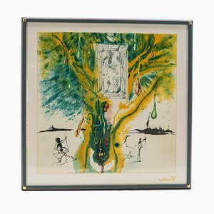 The Emerald Of The Tablet Silk Screen Print by Salvador Dali for Demart, 1989