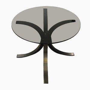 Tavolino in acciaio di Osvaldo Borsani per Tecno, anni '70