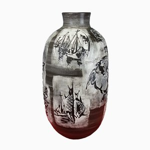 Vase de Plancher Mid-Century par Gustav Spörri pour Ziegler