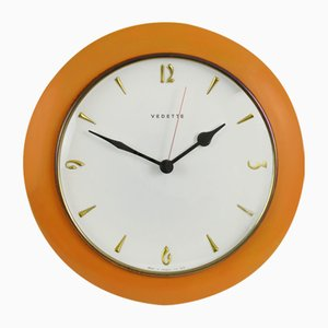 Mid-Century French Wall Clock from Vedette, 1960s