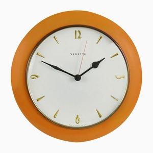 Reloj de pared francés Mid-Century de Vedette, años 60