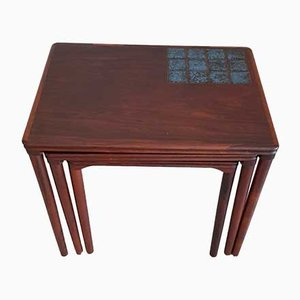 Danish Rio Rosewood Nesting Tables, 1960s