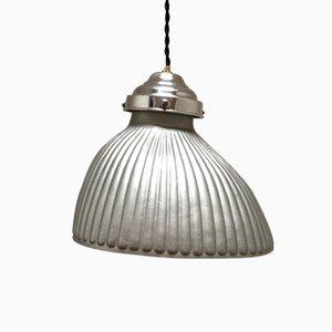 Art Deco Églomisé Glass Ceiling Lamp, 1930s