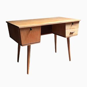 Mid-Century Desk with Bookshelf, 1960s