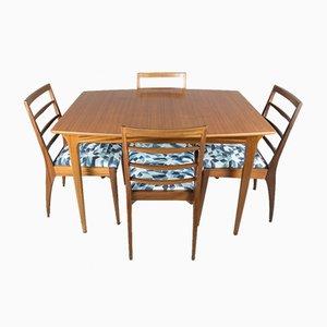 Esstisch & 4 Stühle Set aus Teak von McIntosh, 1960er