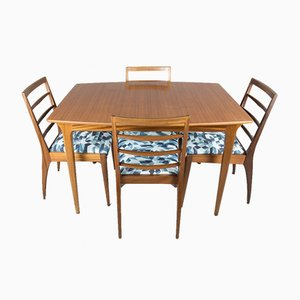 Teak Dining Table & 4 Chairs Set from McIntosh, 1960s