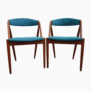 Danish Teak Model 31 Chairs by Kai Kristiansen for Schou Andersen, 1960s, Set of 2
