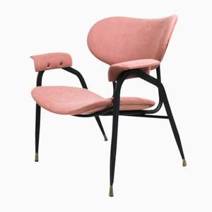 Italian Pink Side Chair by Gastone Rinaldi for Rima, 1960s