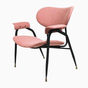 Italienischer Beistellstuhl in Rosa von Gastone Rinaldi für Rima, 1960er