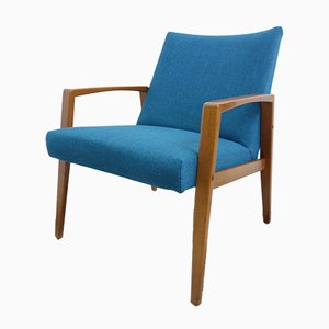 Mid-Century German Blue Armchair, 1960s