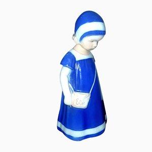 Figura con vestido azul Elsa de Royal Copenhagen, años 80