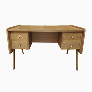Mid-Century French Oak Desk, 1950s