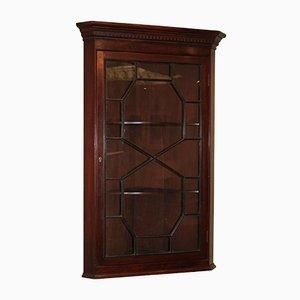 Antique Edwardian Mahogany Corner Cabinet, 1910s