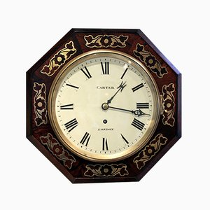 Small Antique Regency Octagonal Wall Clock, 1830s