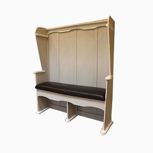 Antike Sitzbank mit hoher Rückenlehne