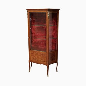Antique French Mahogany Display Cabinet
