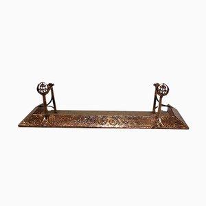 Antiker Arts and Crafts Kamingitter aus Kupfer