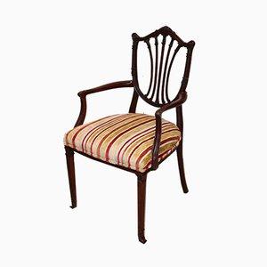 Antique Edwardian Mahogany Shield Back Chair
