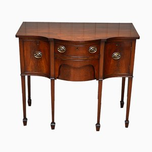 Antique Mahogany Serpentine Front Sideboard