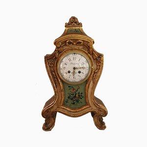 Reloj francés estilo Luis XV antiguo de vidrio de Samuel Marti