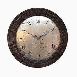 Antike Ziffernblatt-Uhr aus Mahagoni