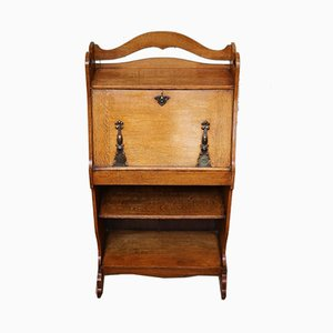 Small Antique Arts & Crafts Oak Secretaire
