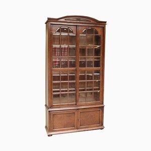 Antique Oak Glazed Bookcase