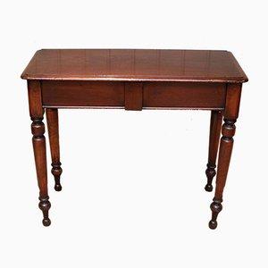 Mesa de recibidor antigua de caoba