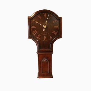 Reloj de pared de taberna vintage de caoba, años 20