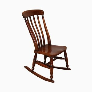 Rocking Chair Antique en Hêtre et Orme