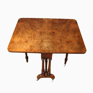 Antique Burr Walnut Sutherland Table