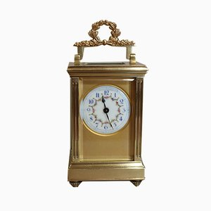 Reloj de carruaje del imperio francés antiguo