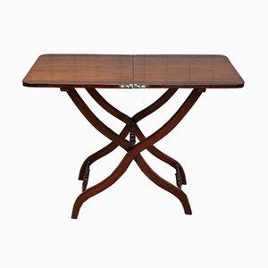 Mesa plegable victoriana antigua de caoba