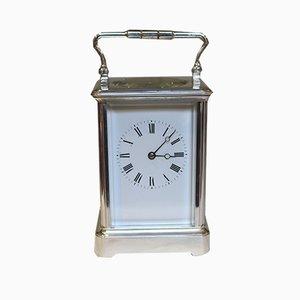 Reloj francés antiguo bañado en plata
