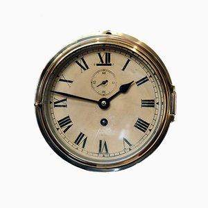 Reloj de mamparo de latón de Smiths Empire, 1932