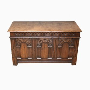 Carved Oak Coffer, 1920s