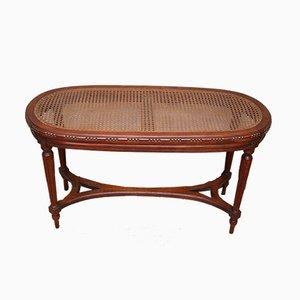 Antique French Walnut & Cane Window Seat