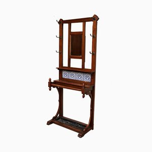 Antique Walnut Hall Stand