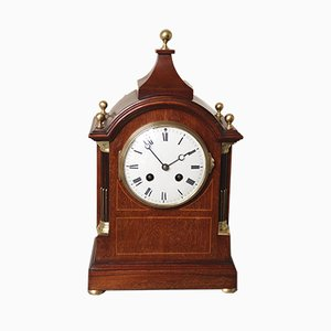 Antique Edwardian Mahogany Mantel Clock