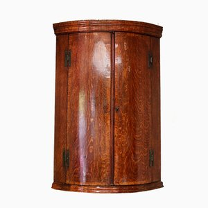 Antique George III Bow Front Corner Cabinet