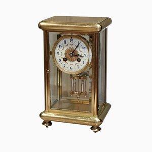 Orologio antico in ottone di Samuel Marti, Francia