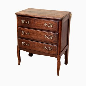 Small Antique French Oak Chest of Drawers