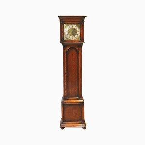 Reloj de pie antiguo pequeño de roble de Mathais Bauerle