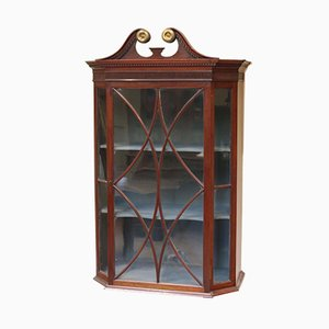 Antique Mahogany Wall Display Cabinet