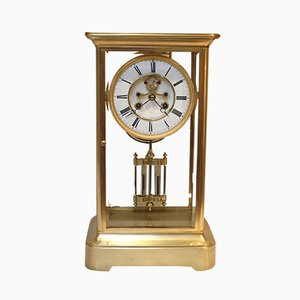 Reloj francés antiguo de vidrio de Samuel Marti