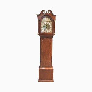 Reloj de pie escocés antiguo pequeño de caoba
