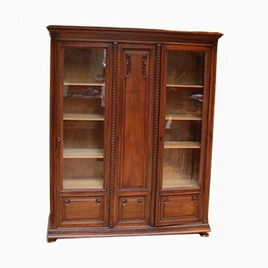 Antique French Oak and Walnut Bookcase